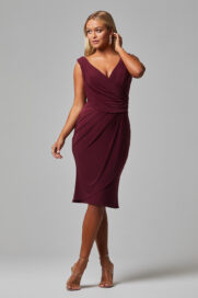 TO826 delta bridesmaid dress front wine