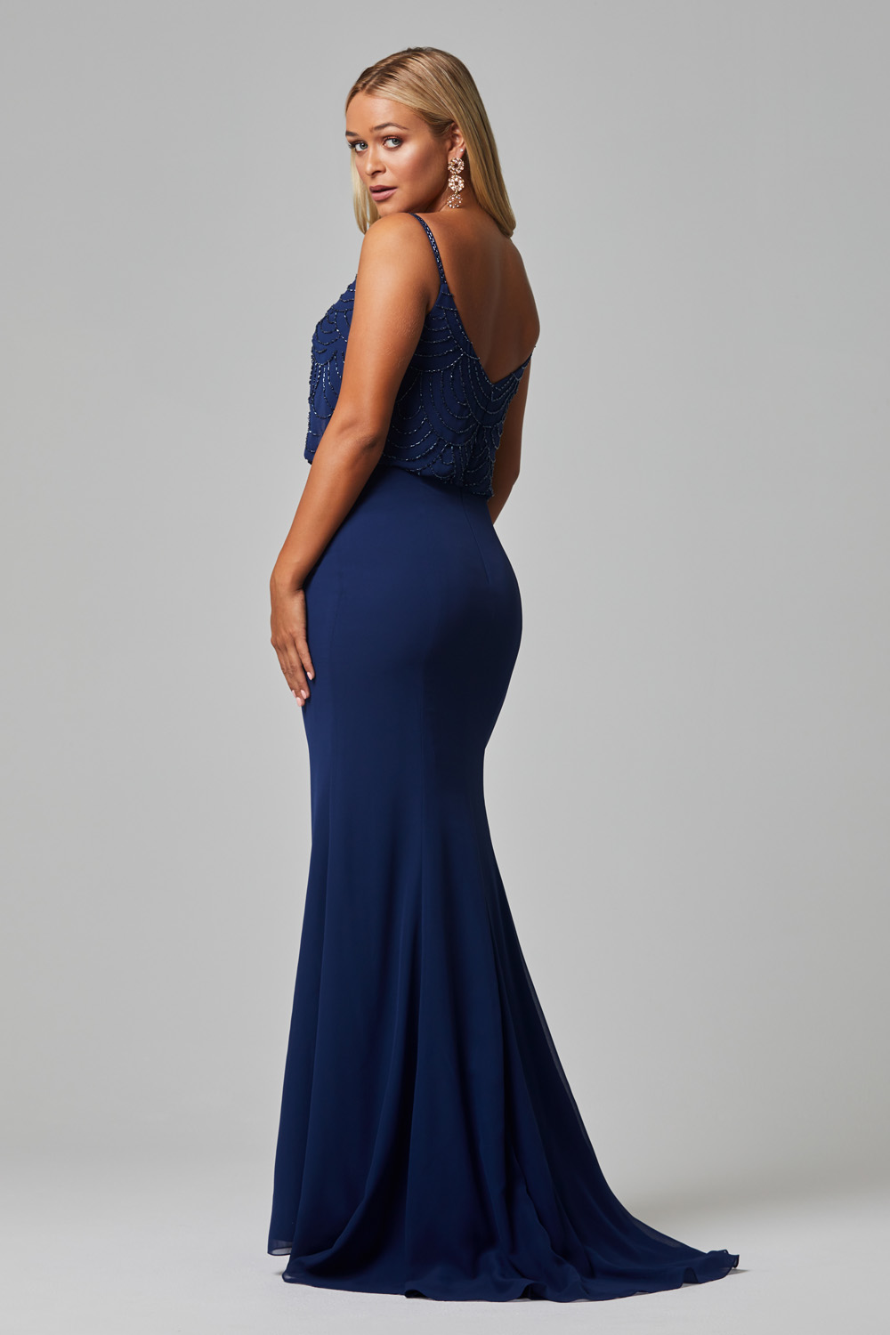 Valencia Bridesmaid Dress navy back