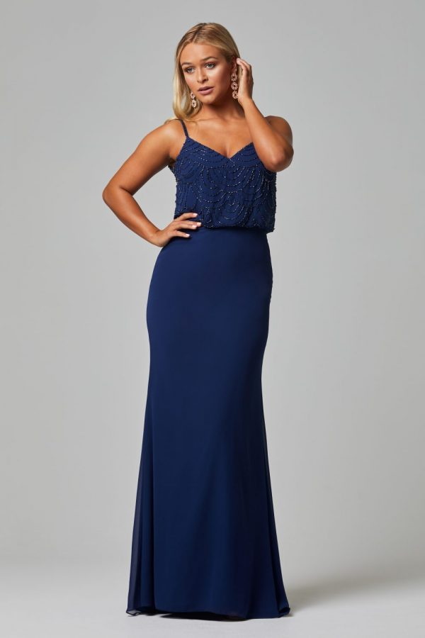 Valencia Bridesmaid Dress navy front