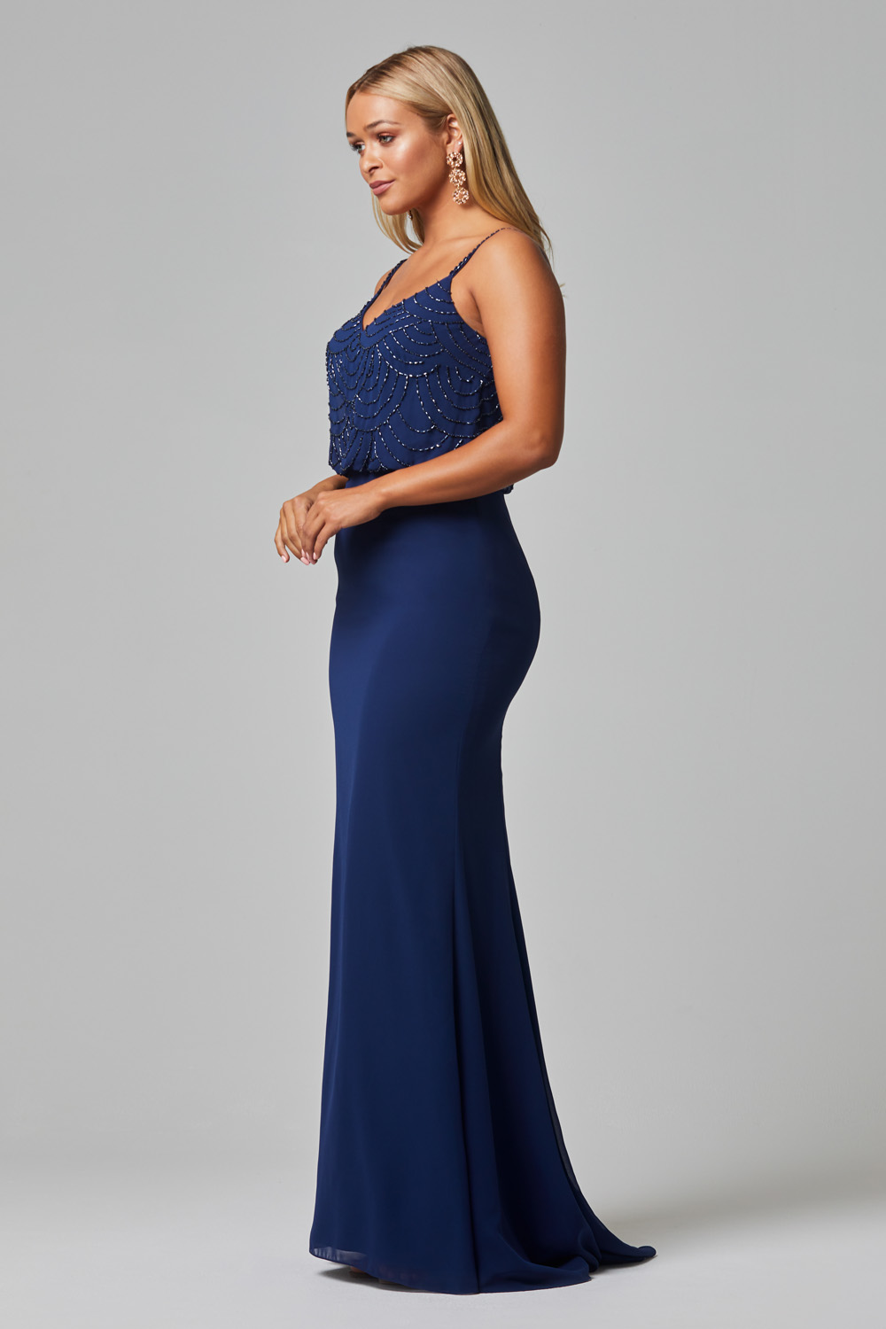 Valencia Bridesmaid Dress navy side