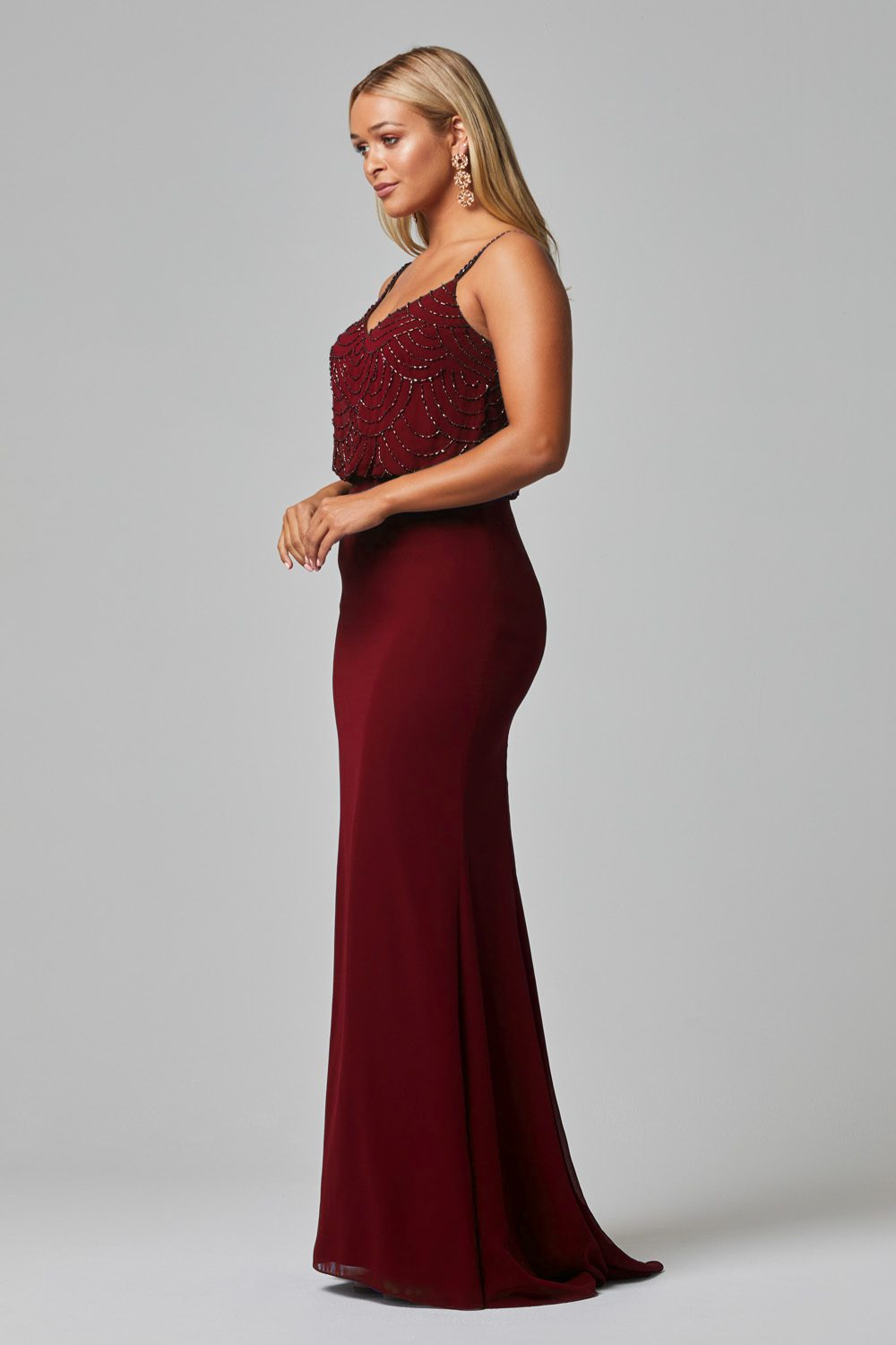 Valencia Bridesmaid Dress wine side