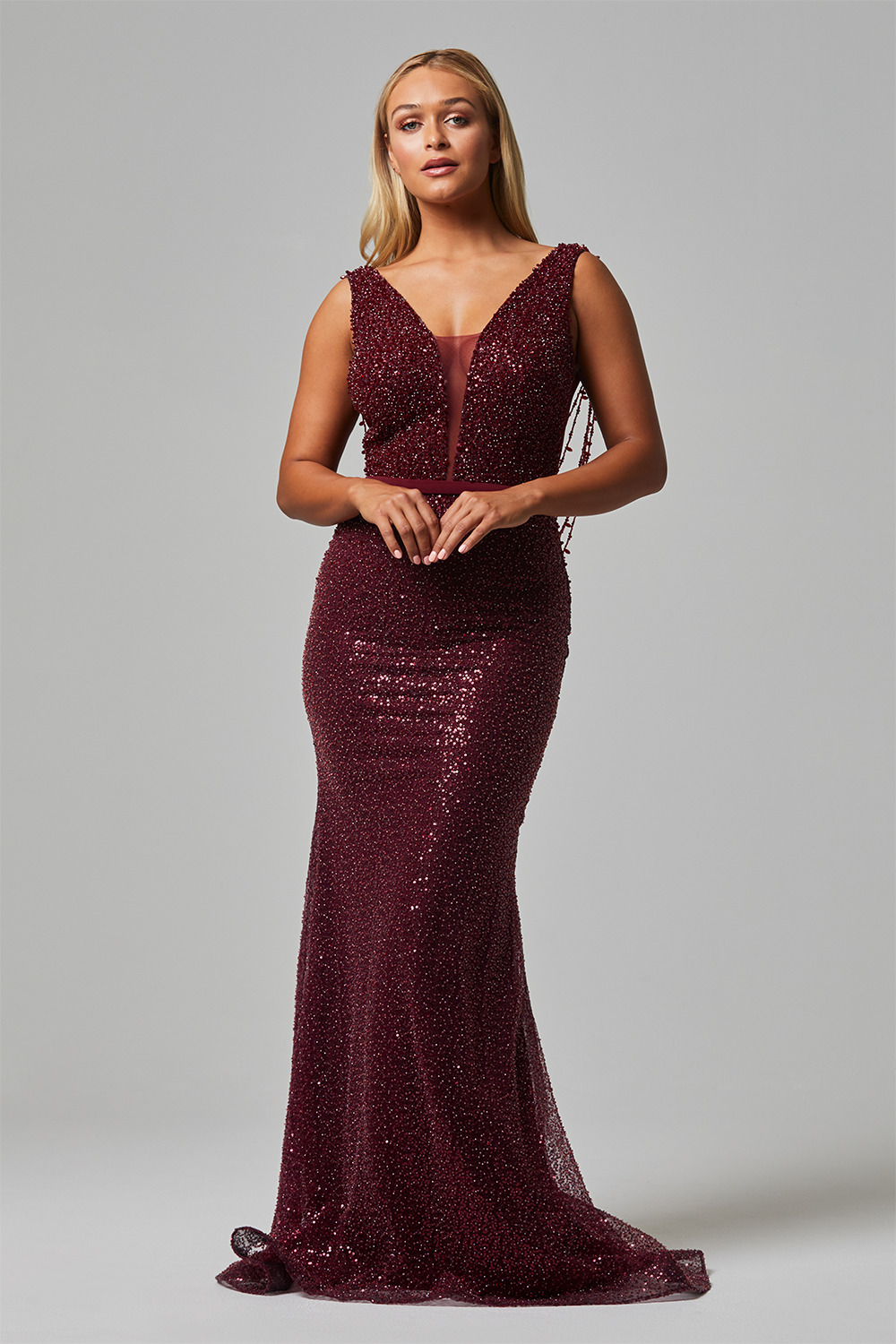 crystal evening dress tc253 front