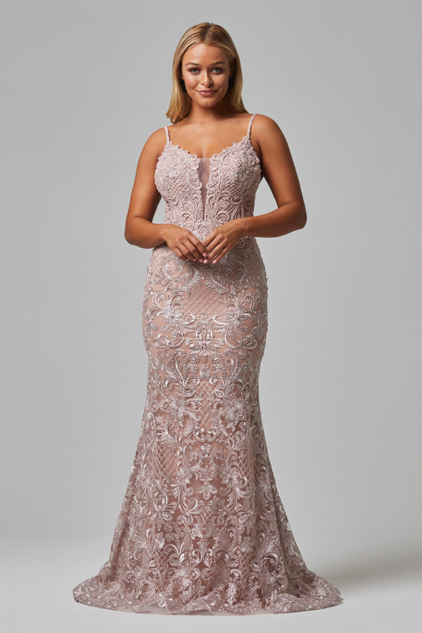 shiloh evening dress tc250 pink front