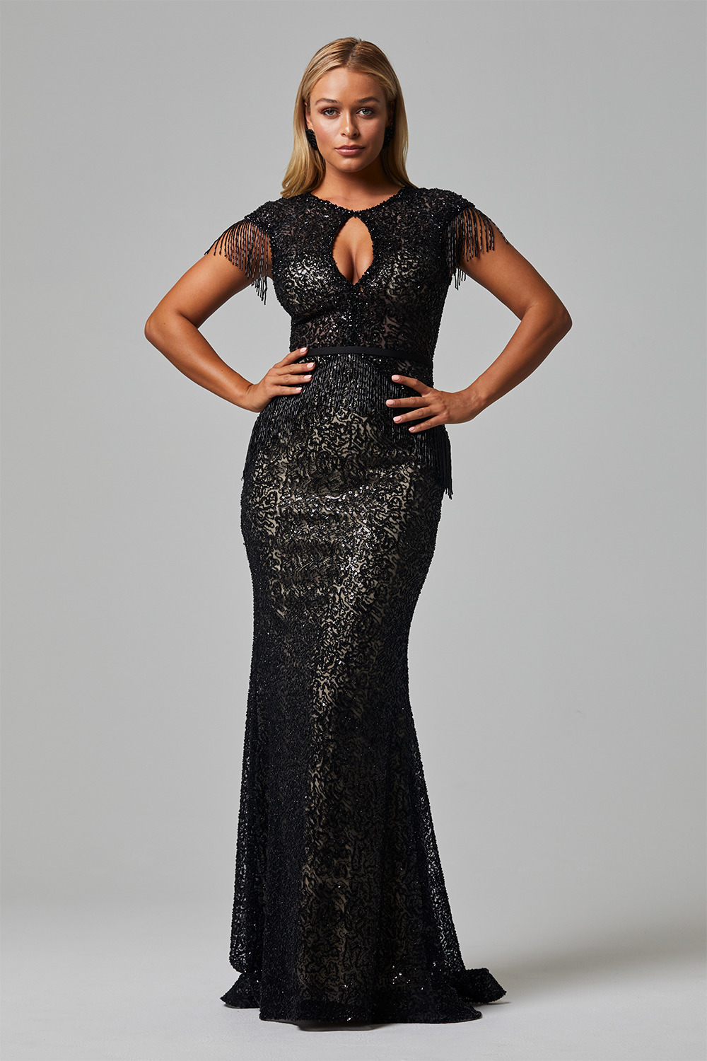 tc2438 anika evening dress front
