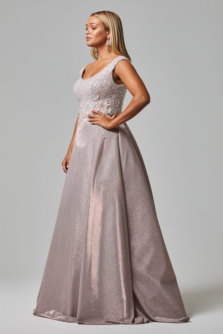 damalia evening dress tc255 rose side