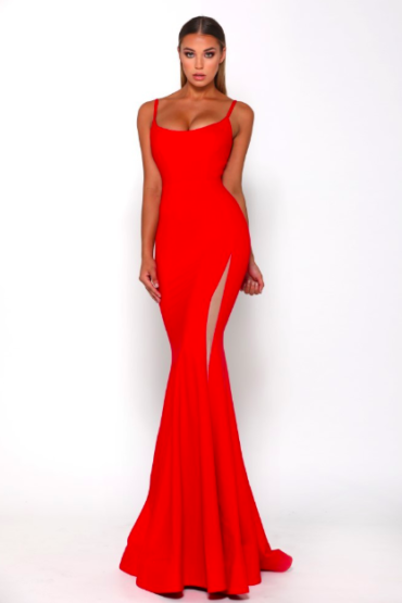 Portia & Scarlett - Indira gown red front