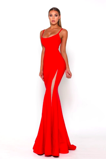 Portia & Scarlett - Indira gown red side