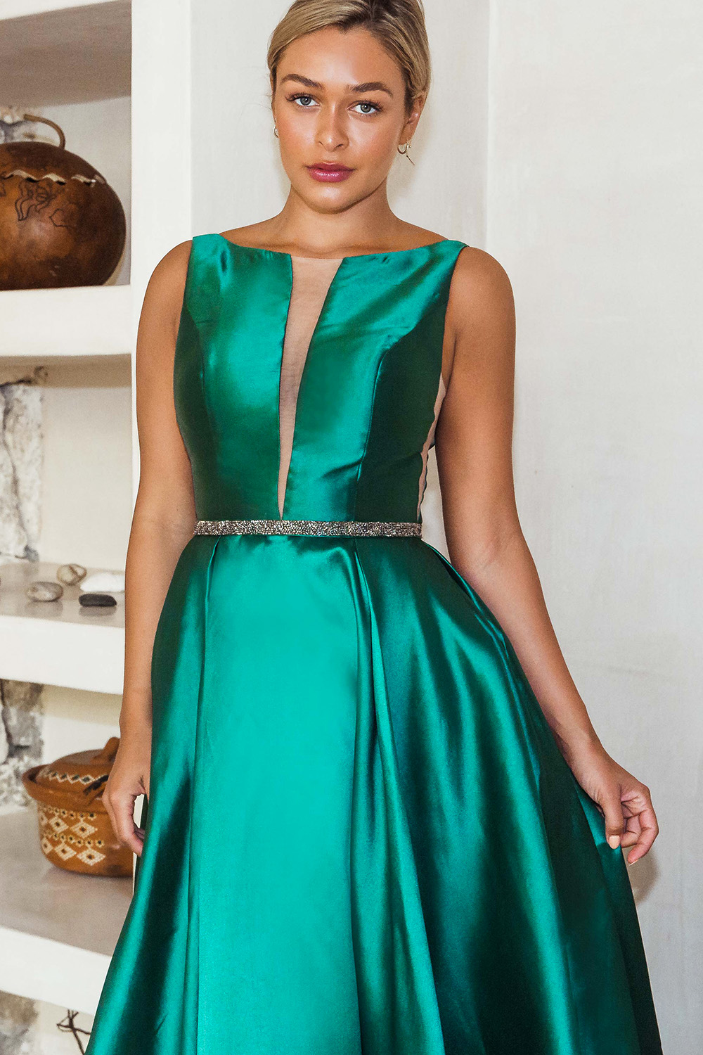 Avery Satin Prom Dress - PO829