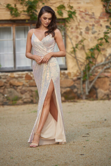 Danni Sequin Evening Dress - PO831