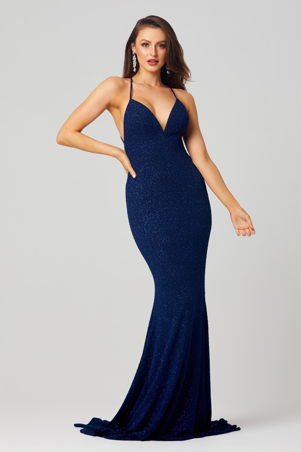 Hazel Fitted Sparkle Formal Dress - PO815