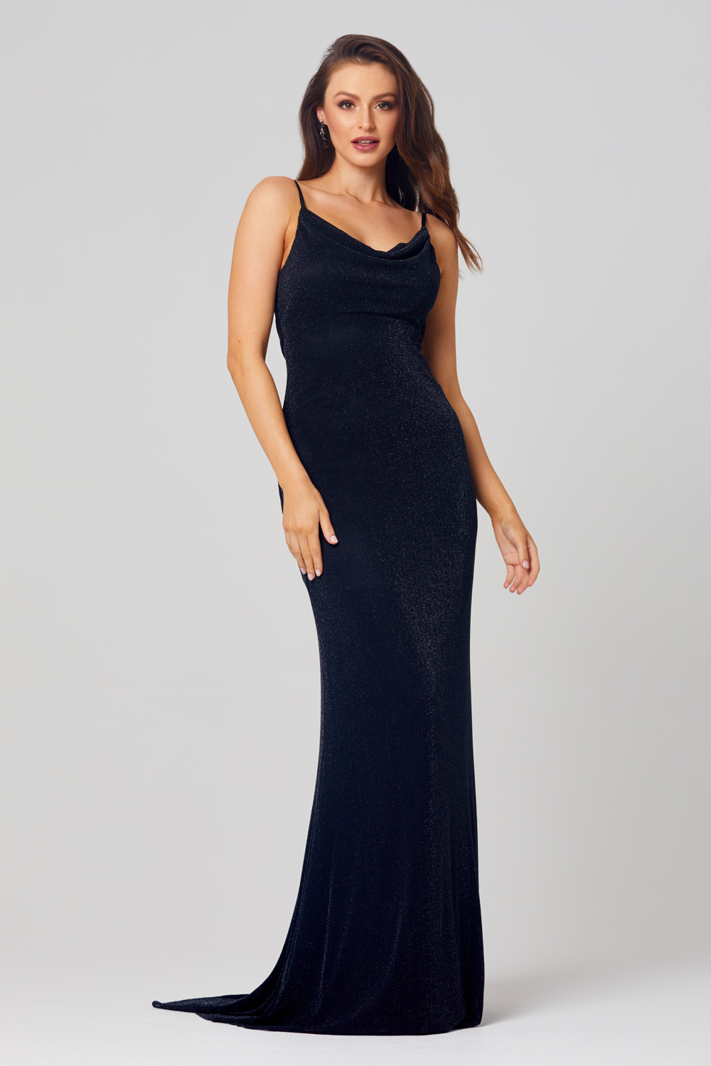Jessie Cowl Neck Evening Dress - PO811