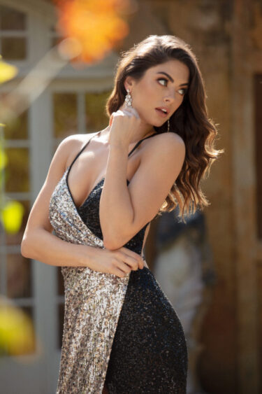 Aden Sequin Evening Dress - PO841