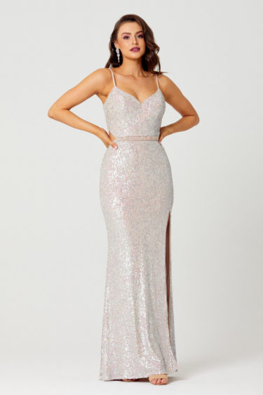 Jasmine Sequin Formal Dress Front - PO853