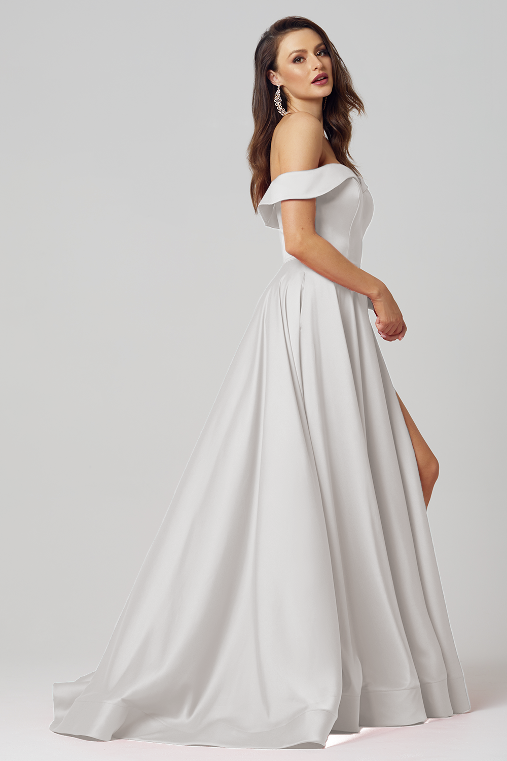 Pearl Strapless A-Line Formal Dress – PO876 Vintage White