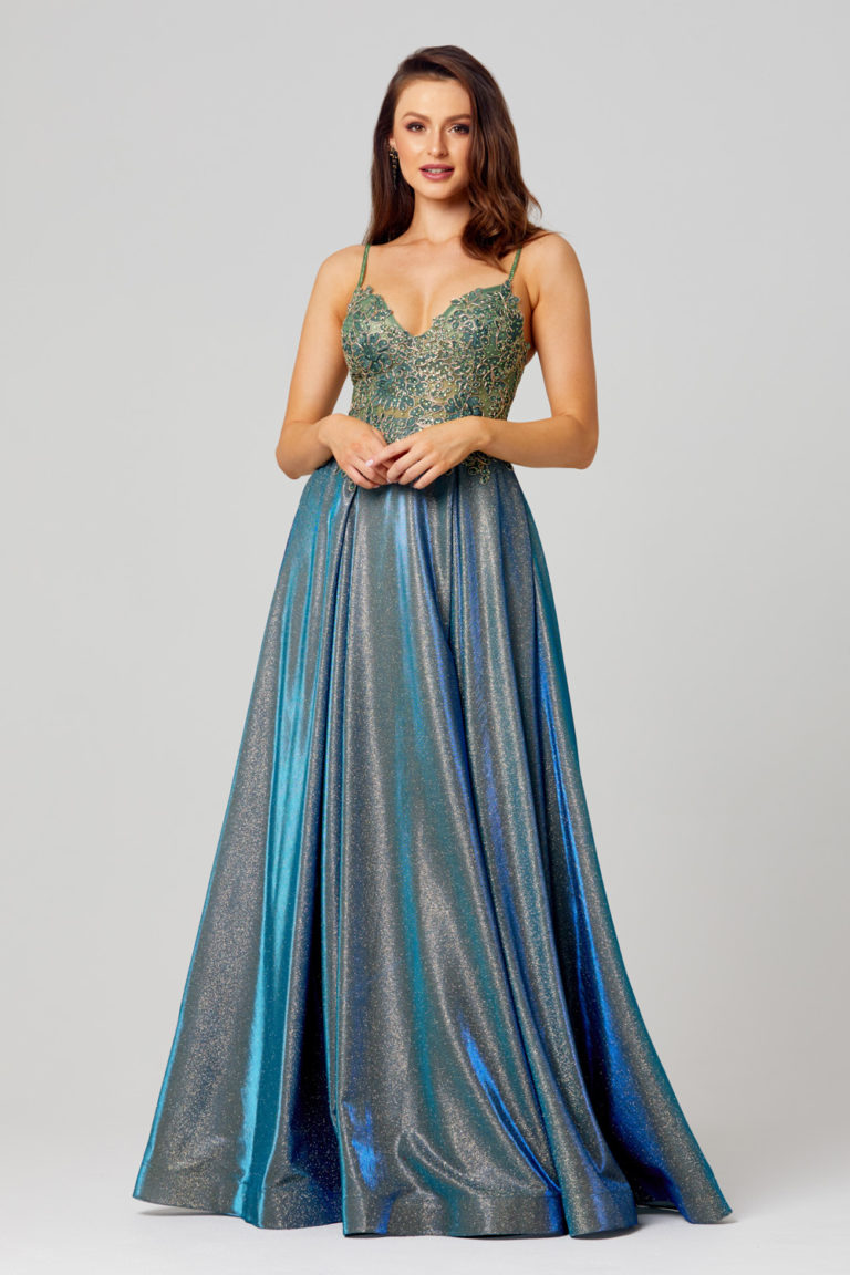 PO854 Ivy formal dress front