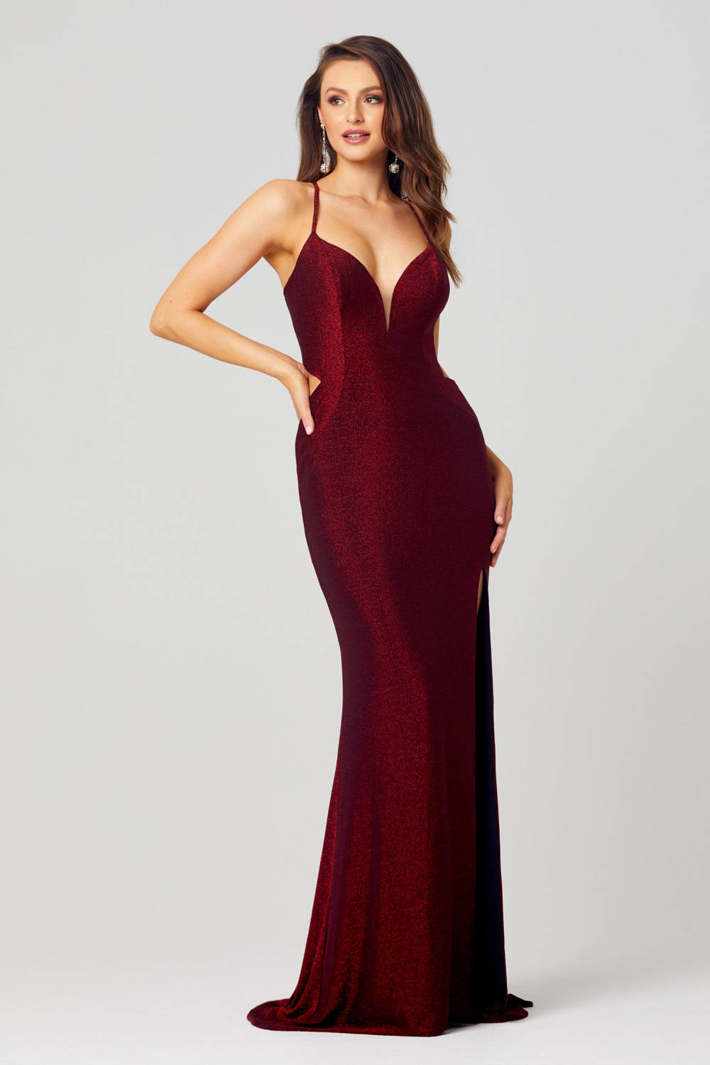 PO857 Maggie wine dress