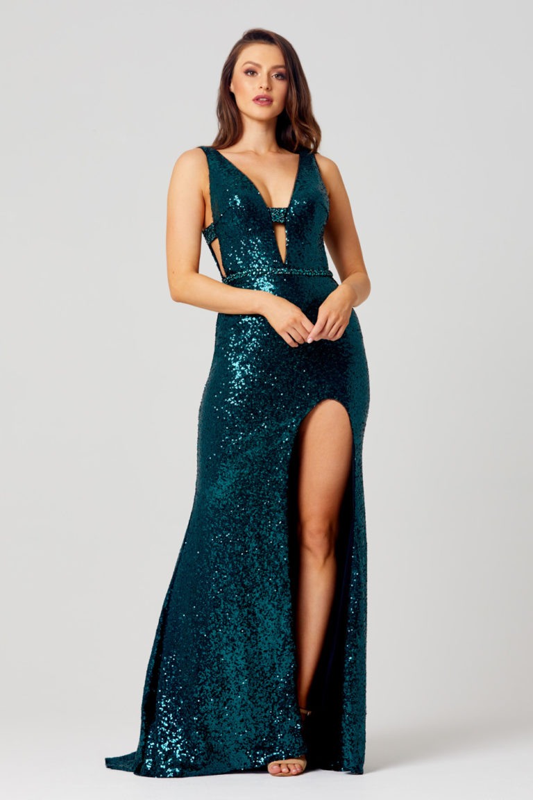 PO860 laura teal dress