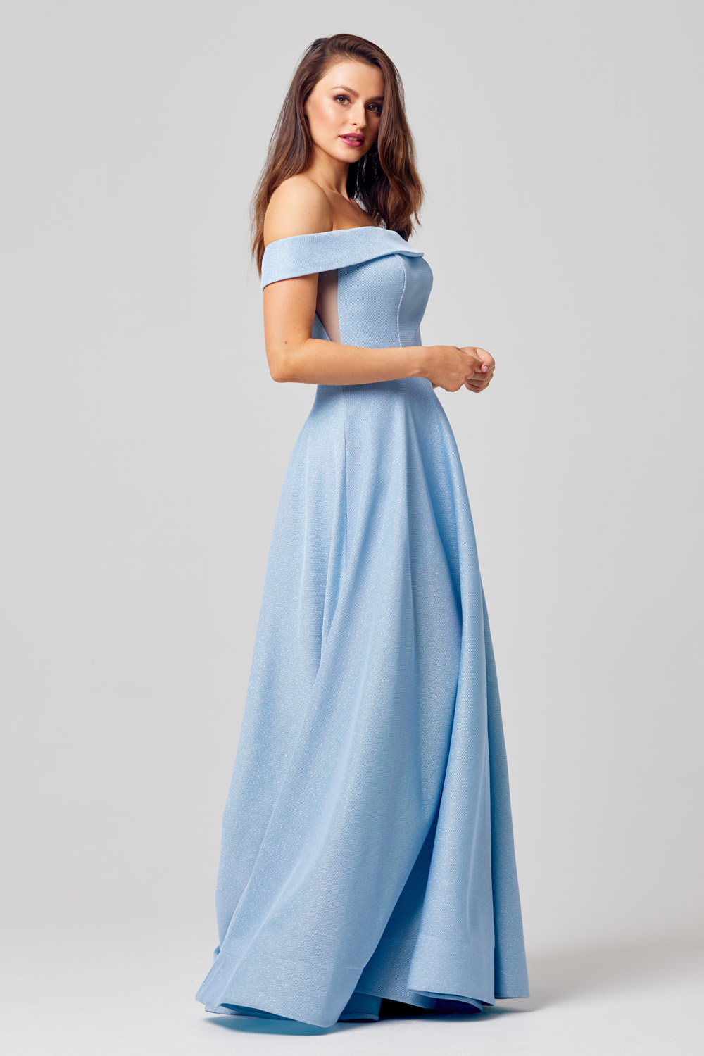 PO863 ella a-line formal dress Side