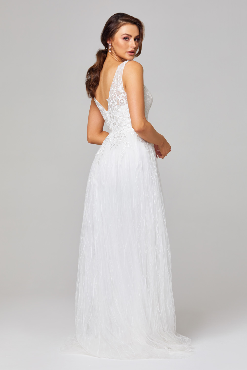 TC282 Blaire Lace and Tulle Wedding Dress Back