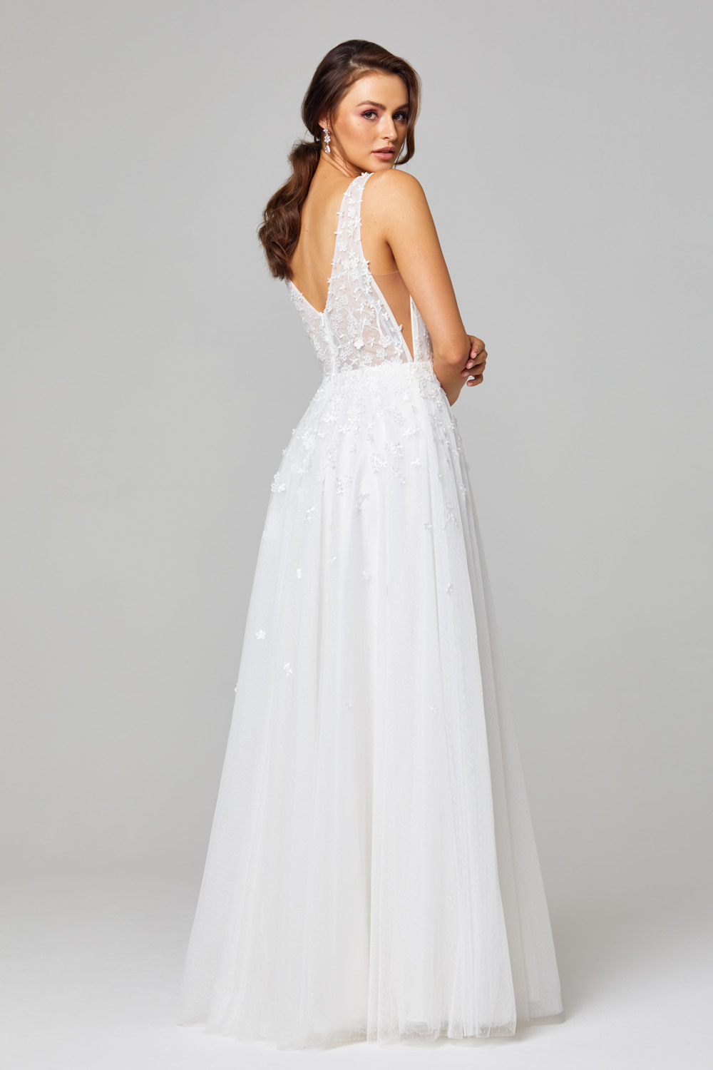 TC289 Zara Lace and Tulle Wedding Dress Back