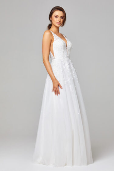 TC289 Zara Lace and Tulle Wedding Dress Side
