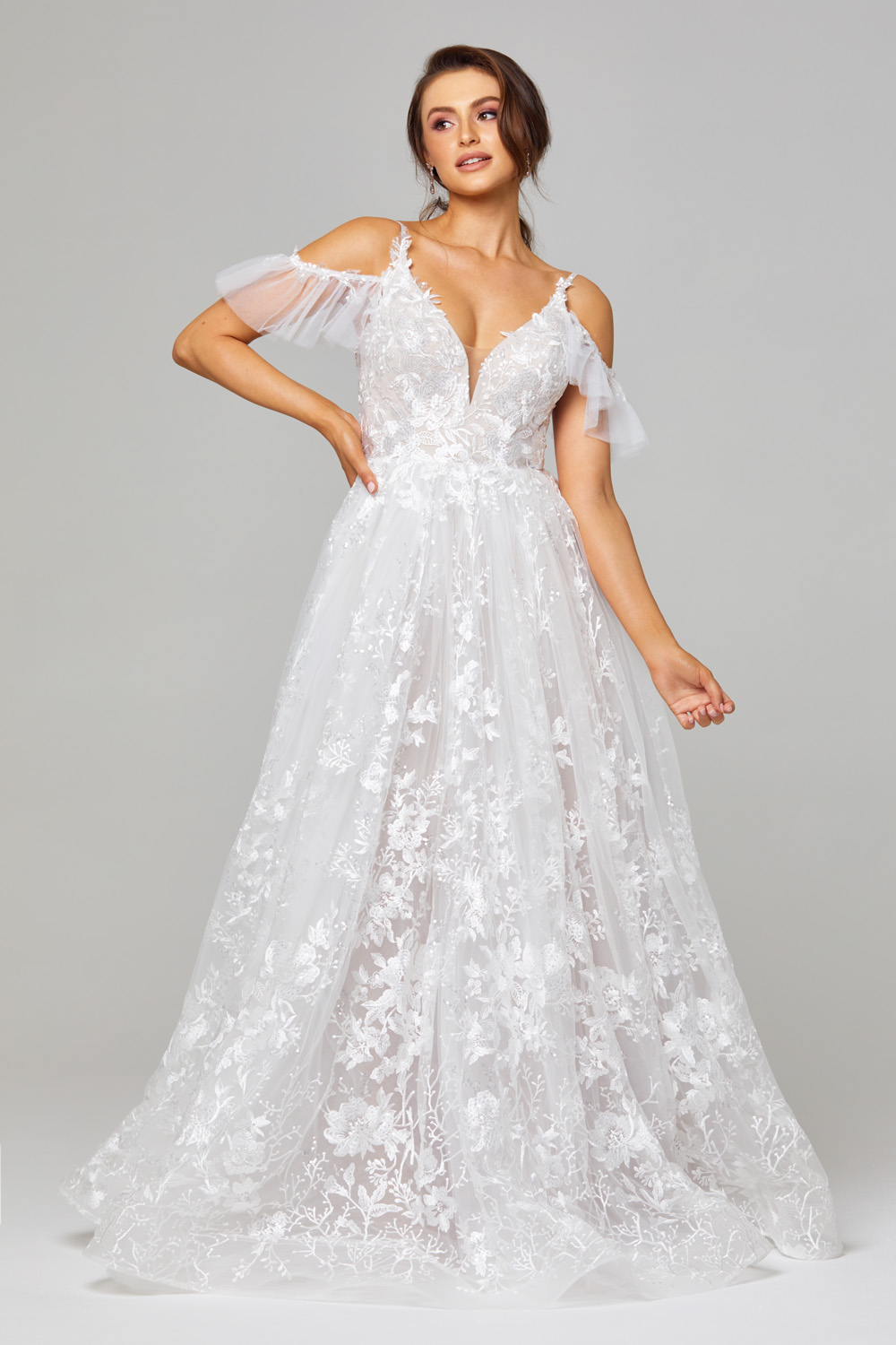 TC295 Jaya Wedding Dress Front