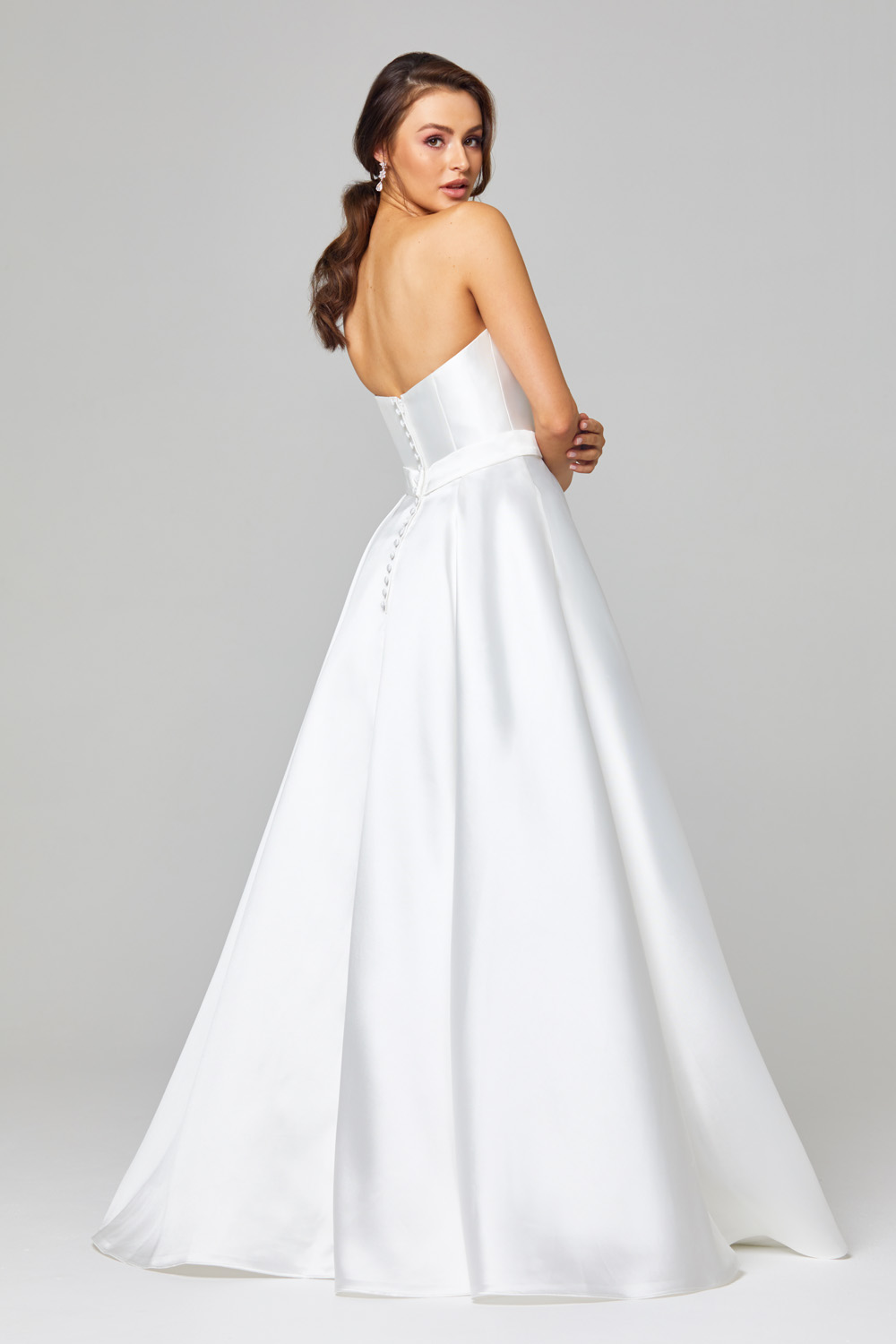 TC303 Demi Strapless Wedding Dress Back