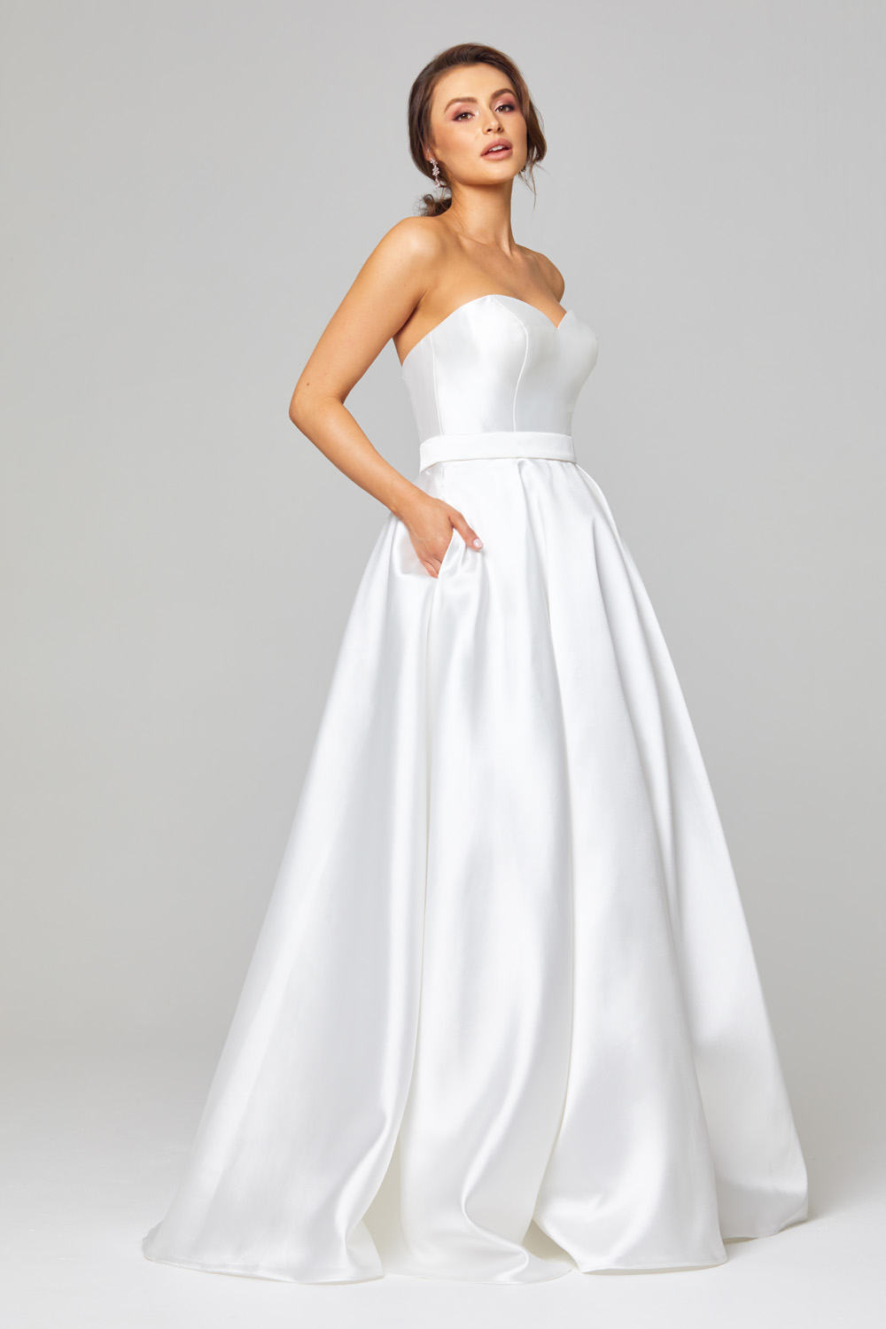 TC303 Demi Strapless Wedding Dress Side