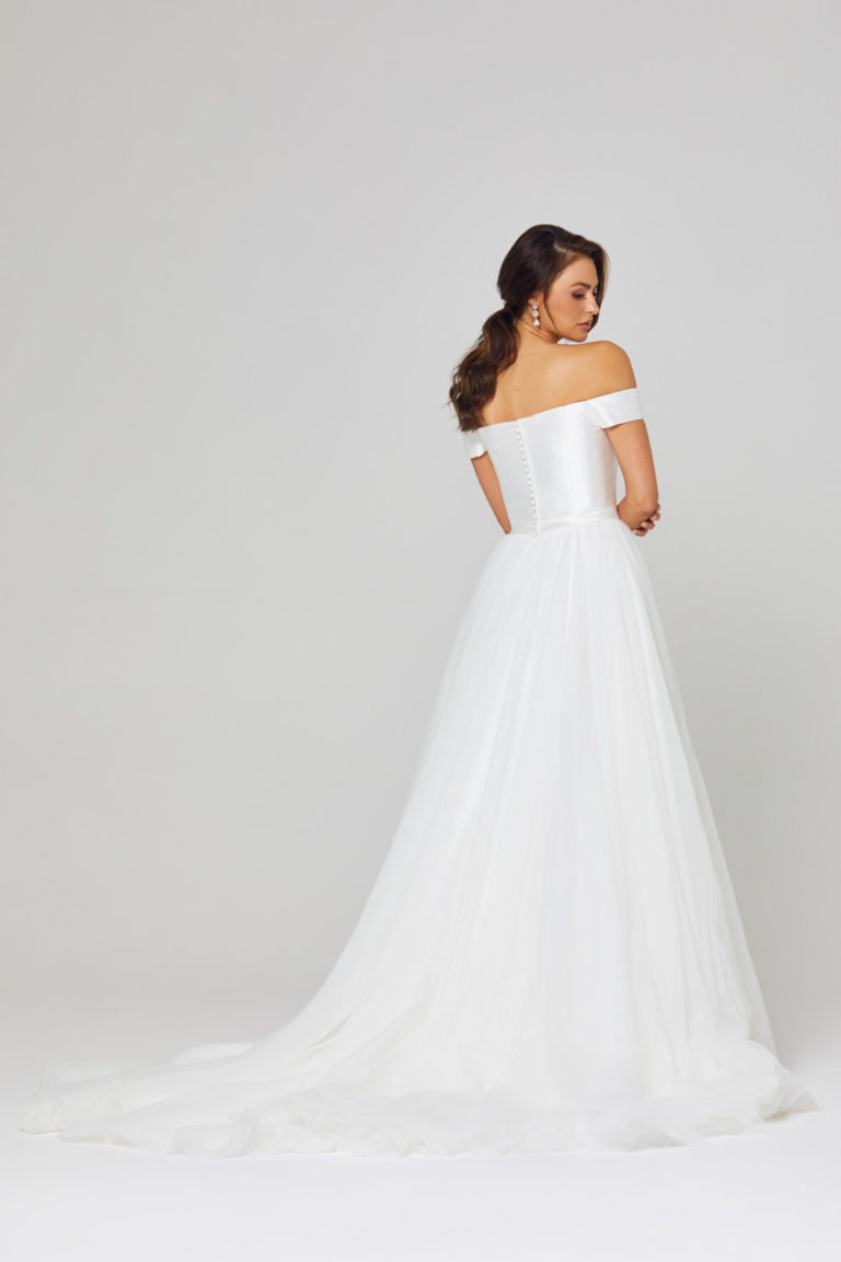 TC306 Lucinda Off Shoulder Wedding Dress Back