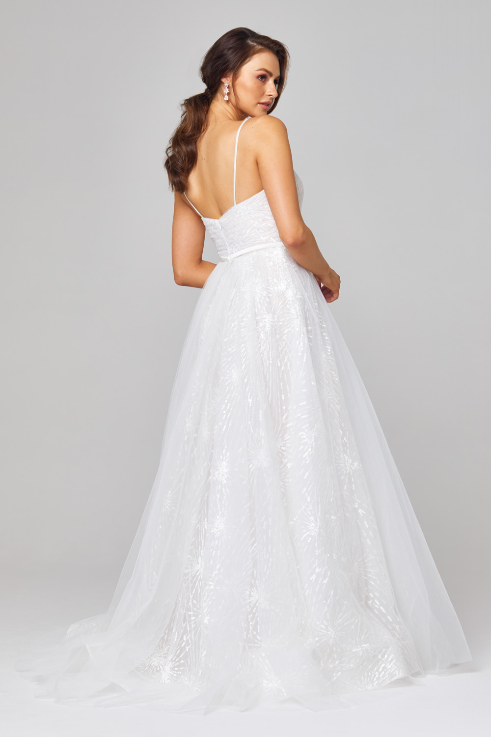 Belle Embroidered Tulle Wedding Dress Side