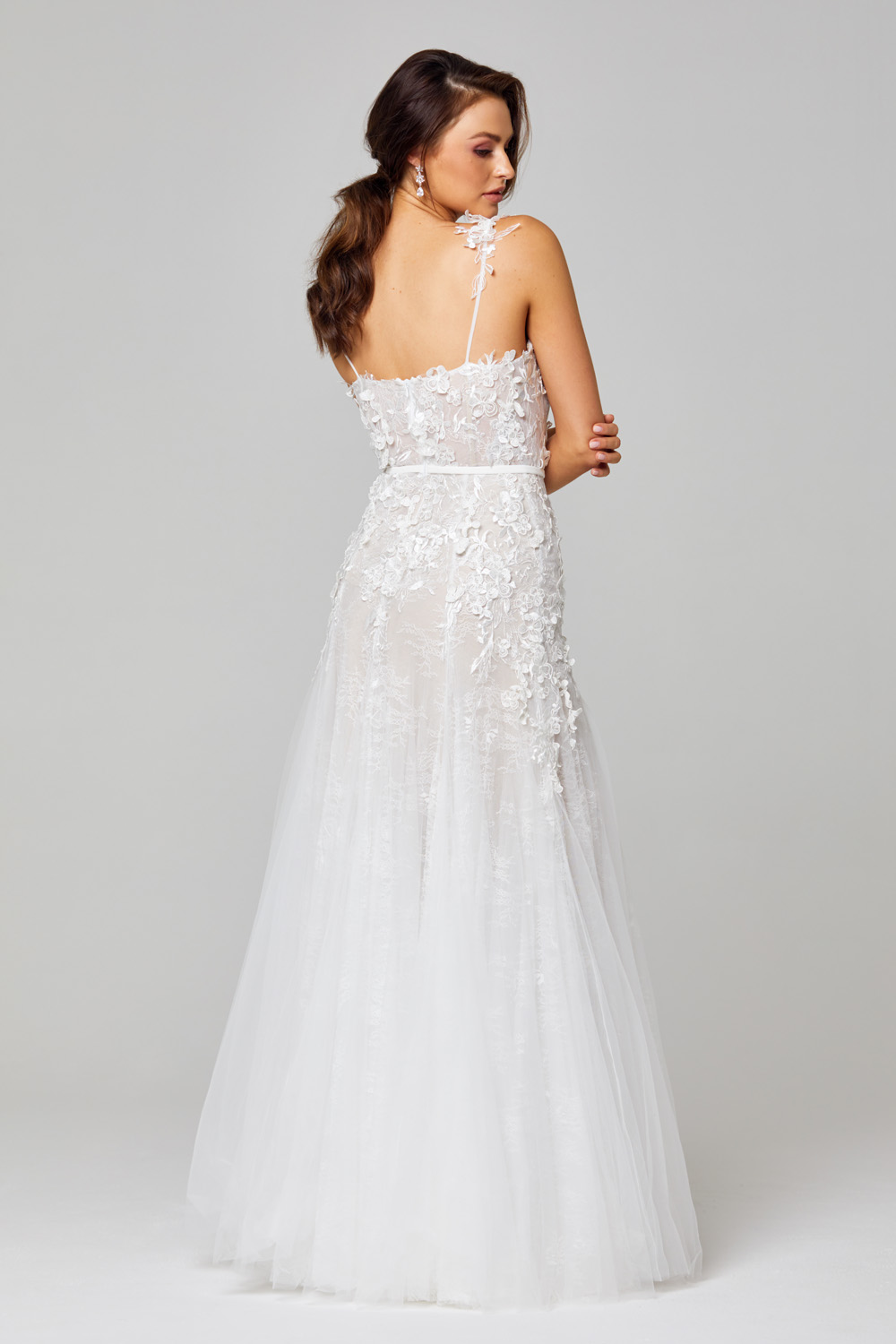 TC316 Hannah 3D Lace Wedding Dress Back