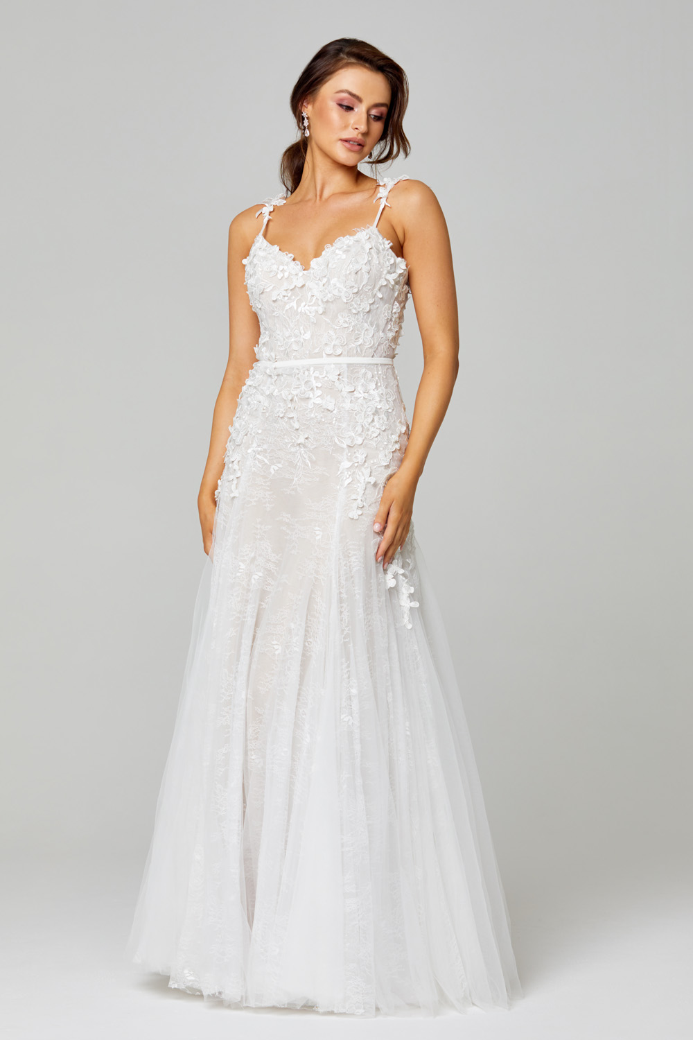 TC316 Hannah 3D Lace Wedding Dress Front