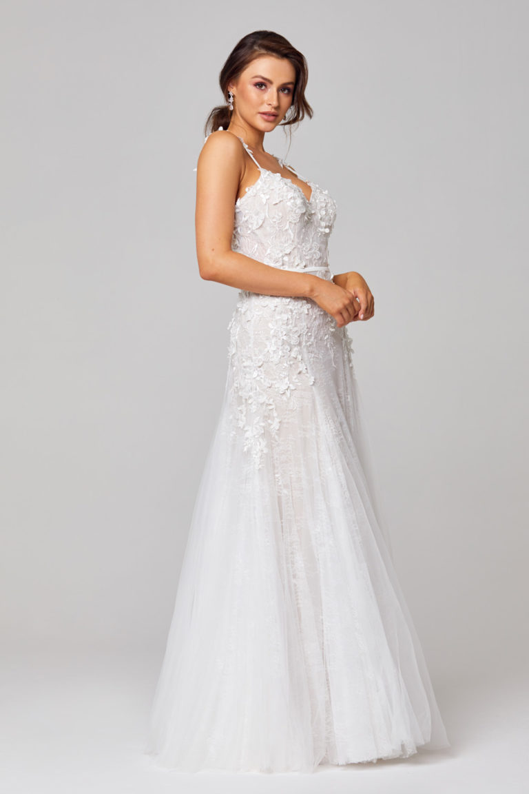 TC316 Hannah 3D Lace Wedding Dress Side
