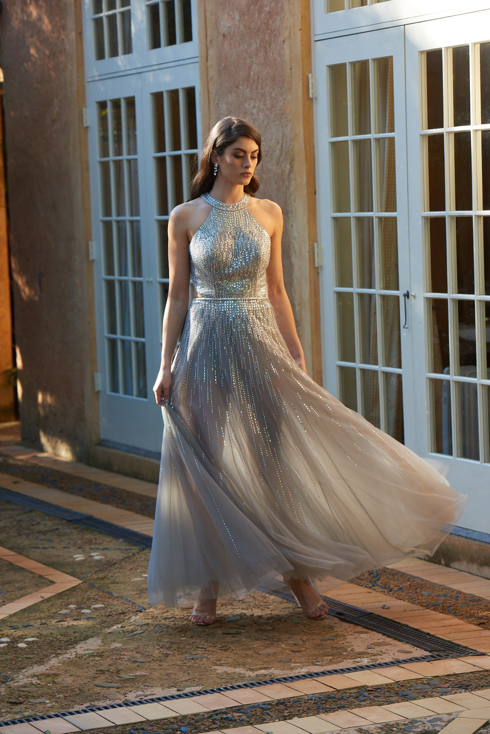 Charlie Tulle and Crystal Evening Dress - TC276