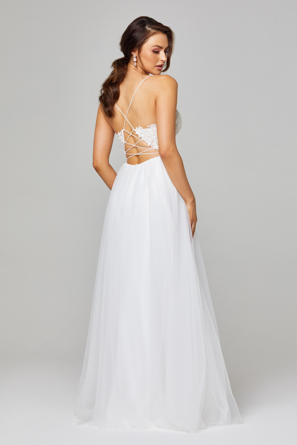 PO842 Back marta lace and tulle white