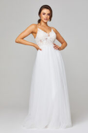 PO842 Marta lace and tulle white