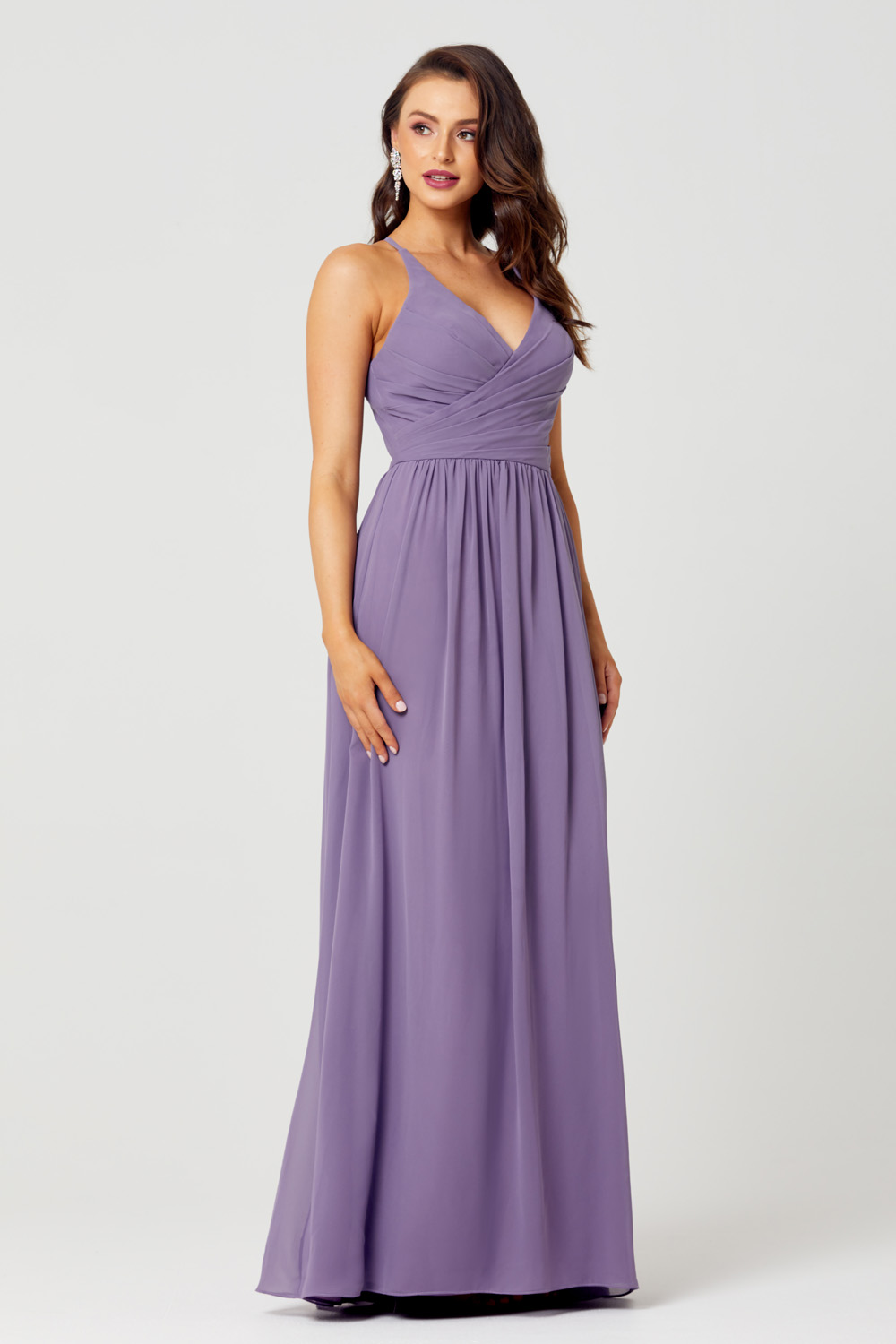 TO833 Side bridie lavender