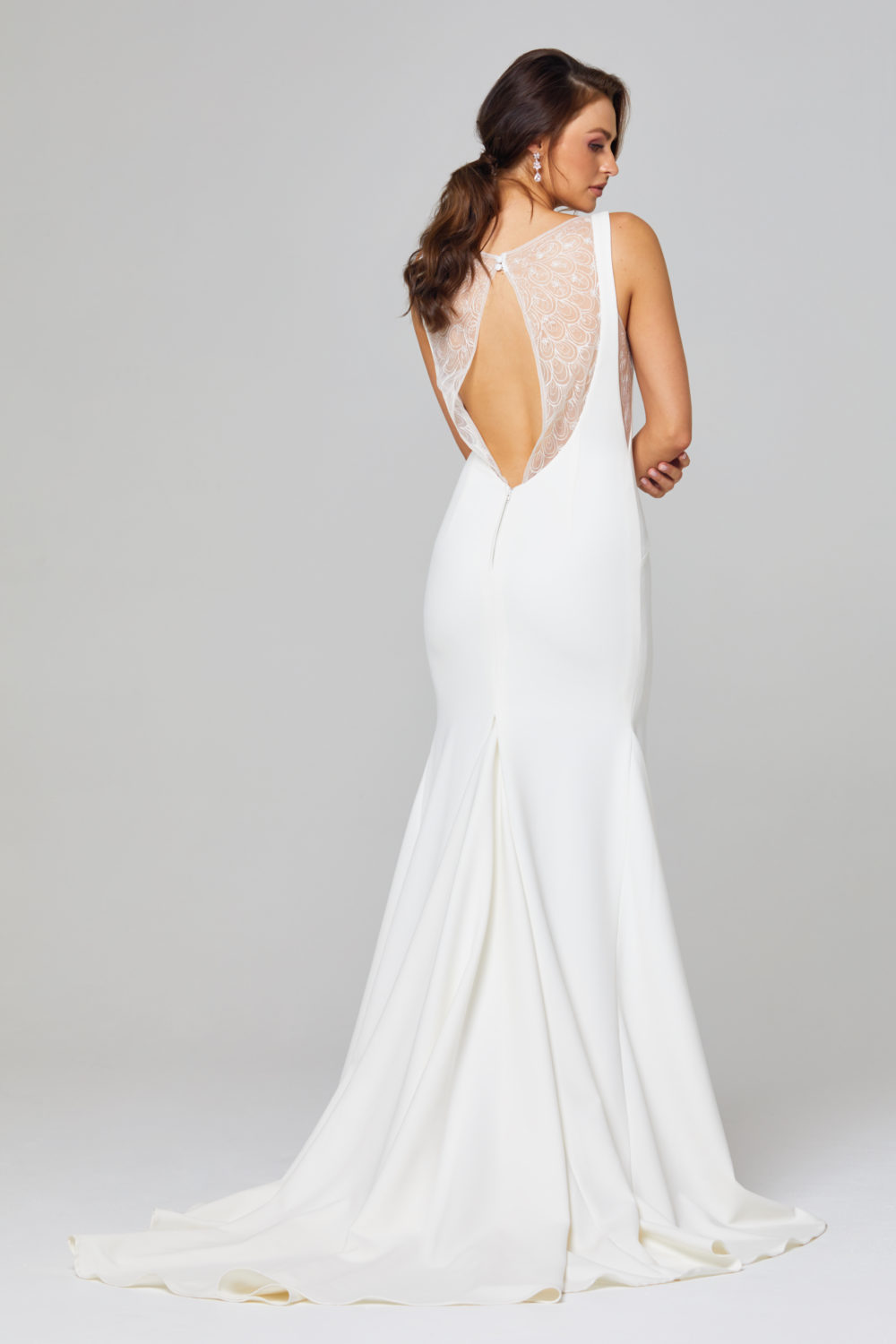 JEMMA HIGH NECK WEDDING DRESS - TC301-Back