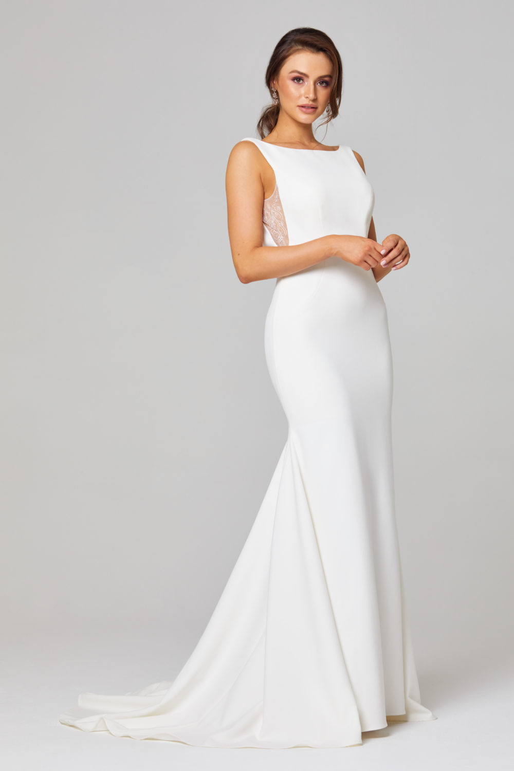 JEMMA HIGH NECK WEDDING DRESS - TC301-Side