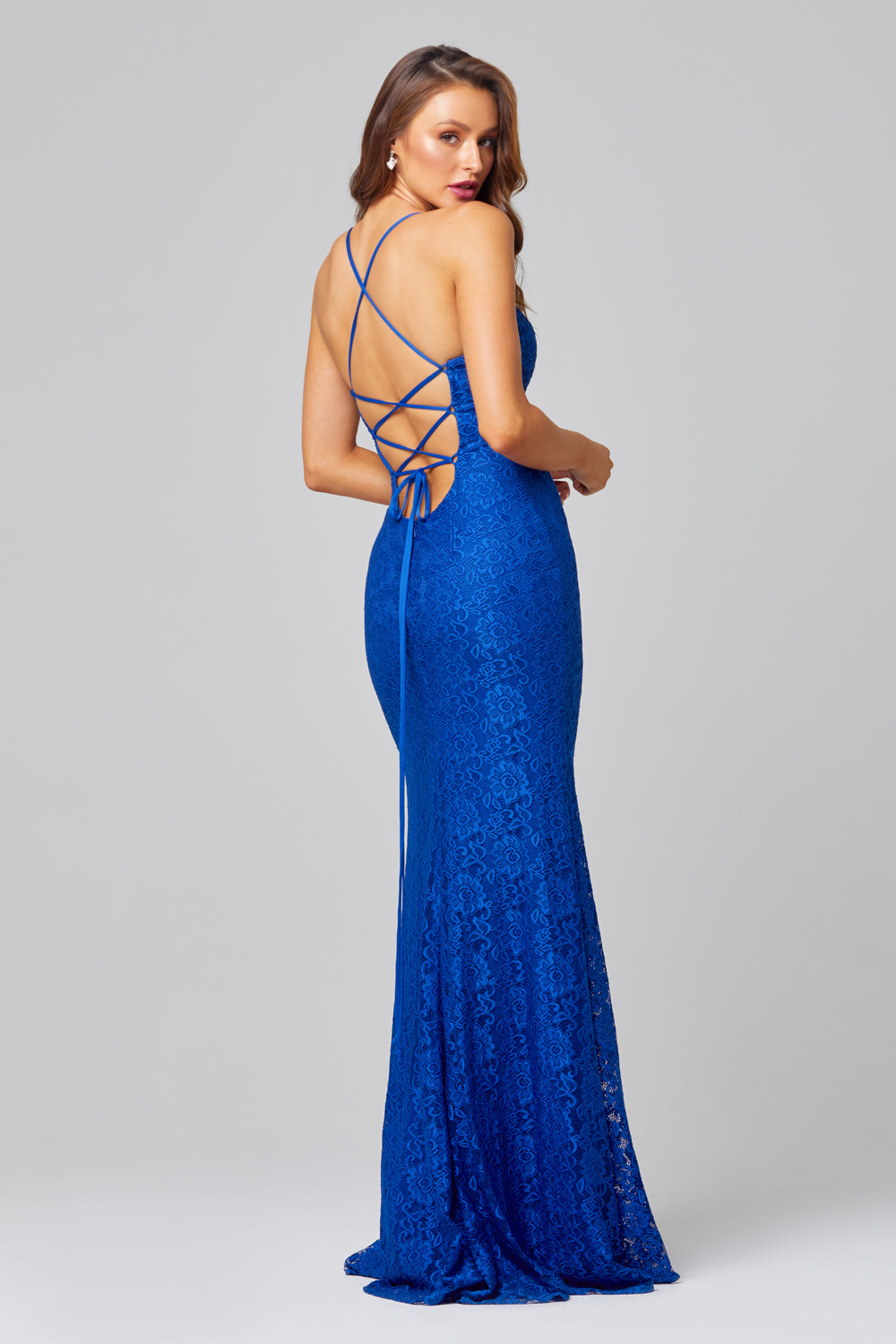 PO816 India Lace cobalt blue back