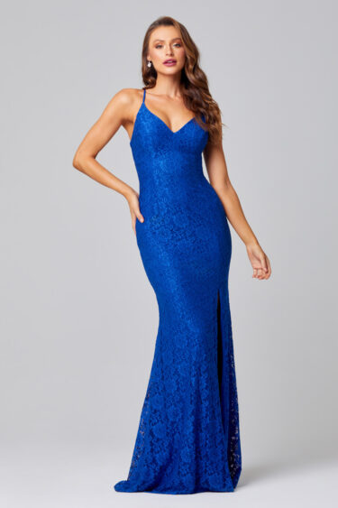 PO816 india lace cobalt blue front