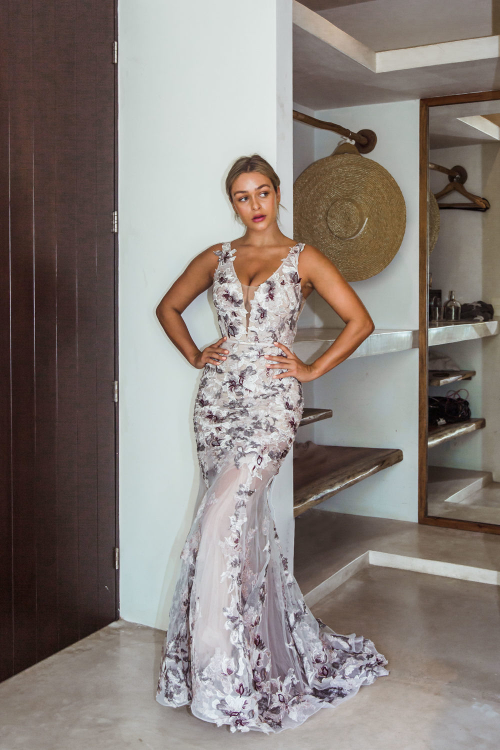 Azalia Emboirdered Evening Dress - Mexico1 - TC272