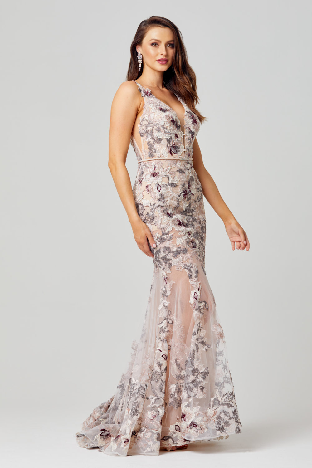 Azalia Emboirdered Evening Dress -TC272 Side