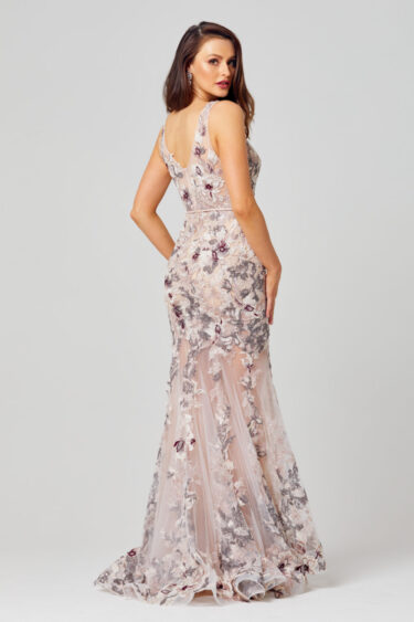 Azalia Embroidered Evening Dress - TC272 Back