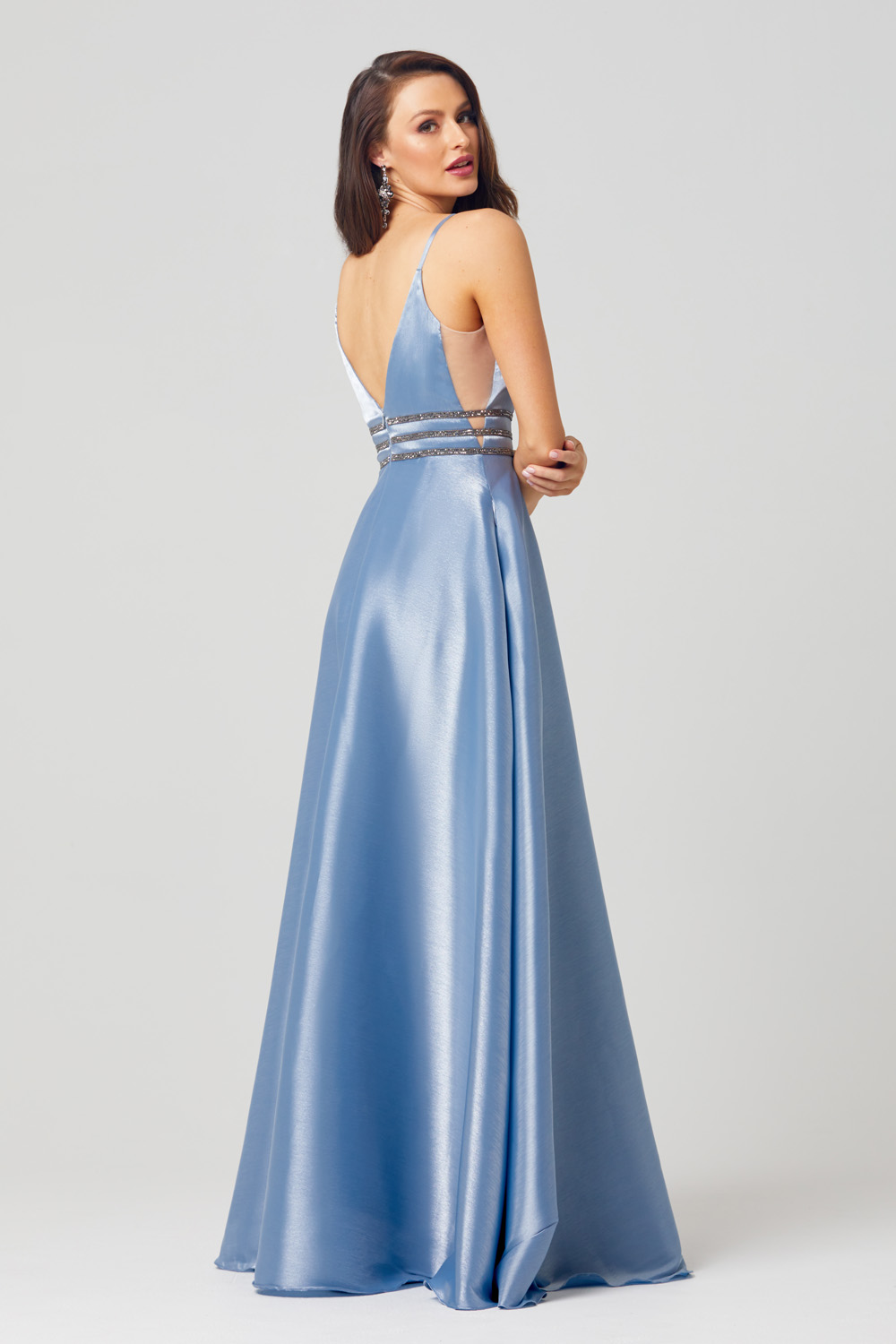Briella A-line Satin Formal Dress - PO817 back