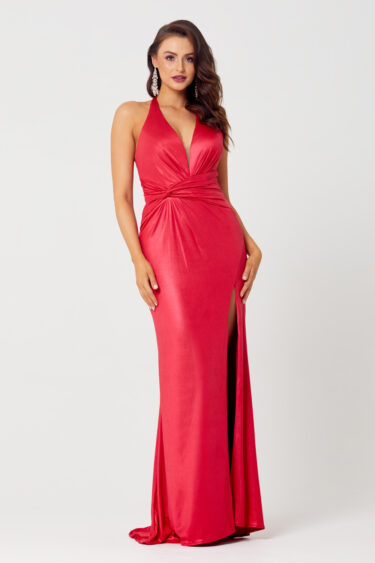 Daniella Halterneck Evening Dress - PO828 front