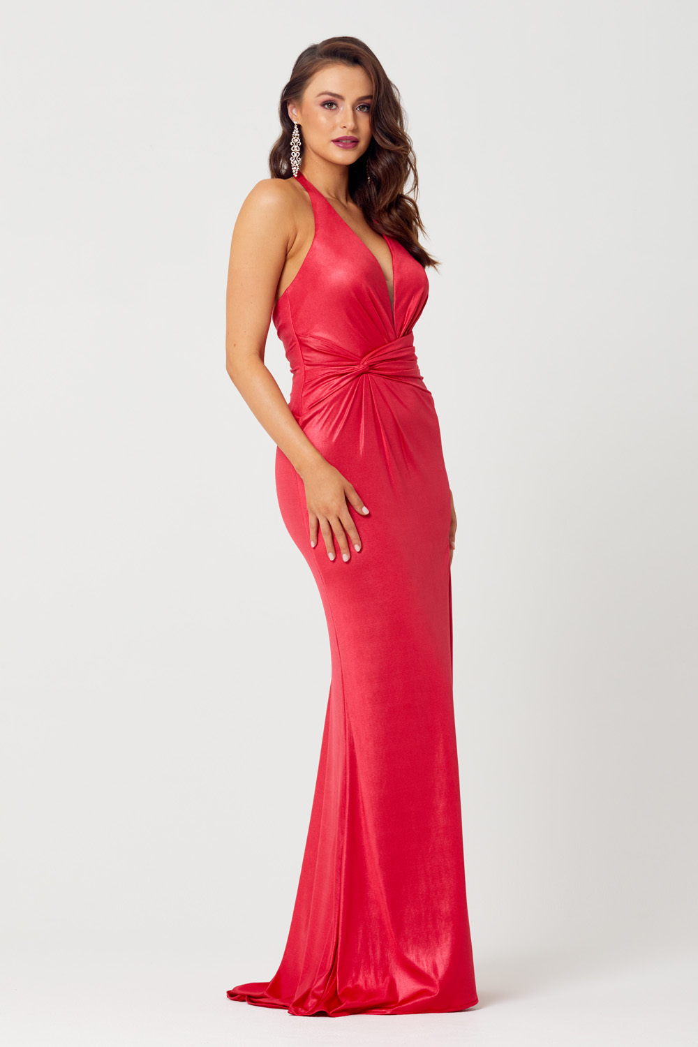 Daniella Halterneck Evening Dress - PO828 side