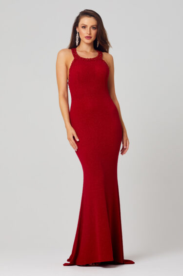 Emersyn Beaded Neckline Formal Dress - PO856