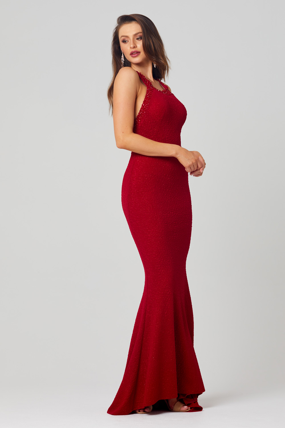 Emersyn Beaded Neckline Formal Dress - PO856 side