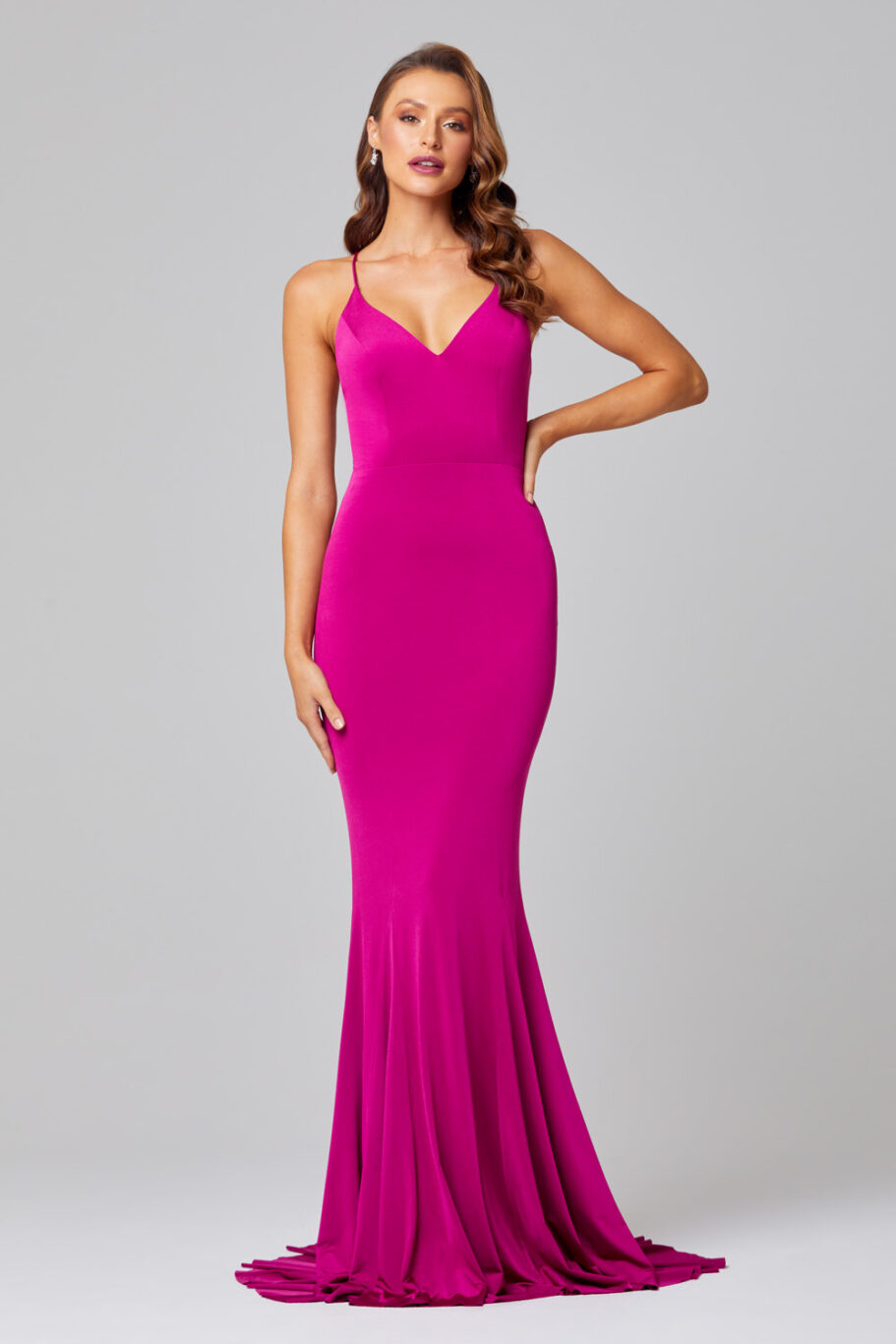 Erika Fitted Mermaid Evening Dress - PO885 front